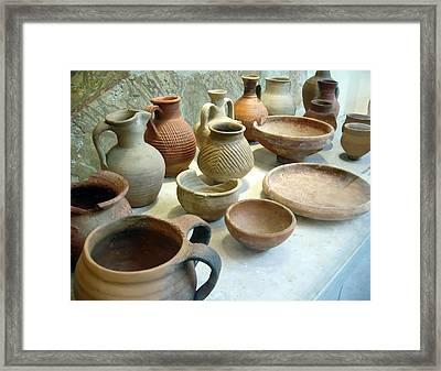 Byzantine Pottery Framed Print