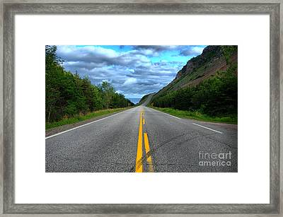 Framed Print featuring the photograph Cabot Trail by Joe  Ng