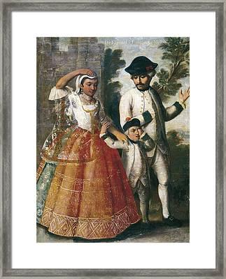 Cabrera, Miguel 1695-1768. Castes. From Framed Print by Everett
