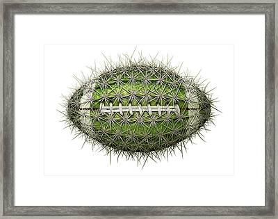 Cactus Football Framed Print