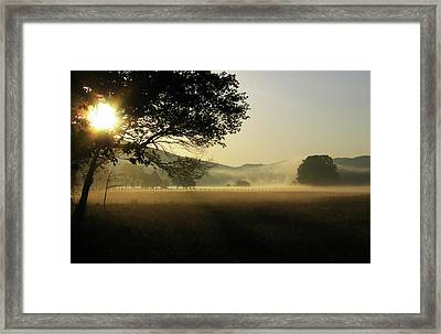 Cades Cove Sunrise II Framed Print