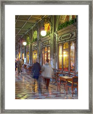 Caffe Florian Arcade Framed Print by Heiko Koehrer-Wagner