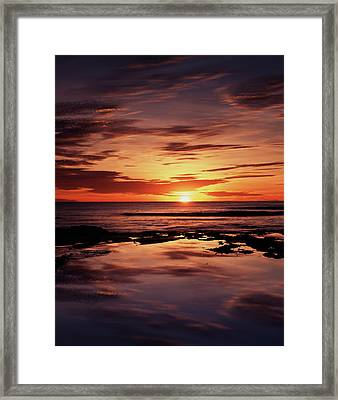 California, San Diego, Sunset Cliffs Framed Print