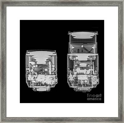 Camera Lens Under X-ray  Framed Print