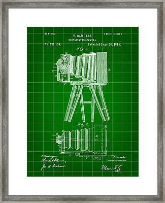Camera Patent 1885 - Green Framed Print by Stephen Younts