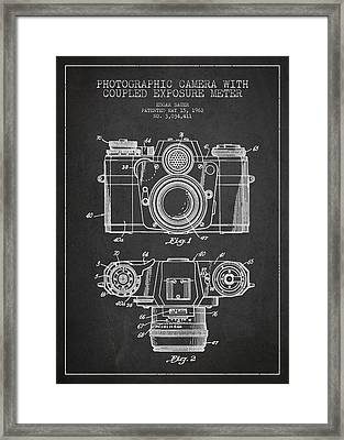 Camera Patent Drawing From 1962 Framed Print
