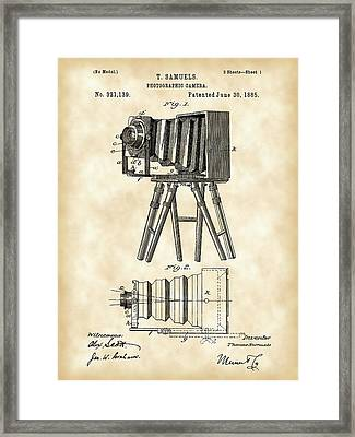 Camera Patent 1885 - Vintage Framed Print by Stephen Younts