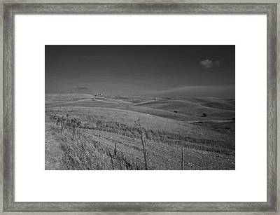 Tarquinia Landscape Campaign Framed Print