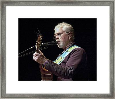 Canadian Folk Rocker Bruce Cockburn Framed Print by Randall Nyhof