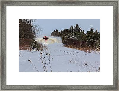 Canadian Pacific Snow Plow Framed Print