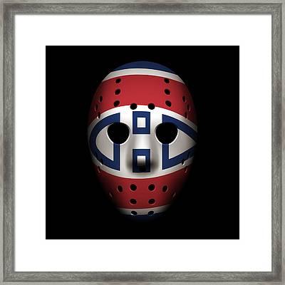 Canadiens Goalie Mask Framed Print by Joe Hamilton