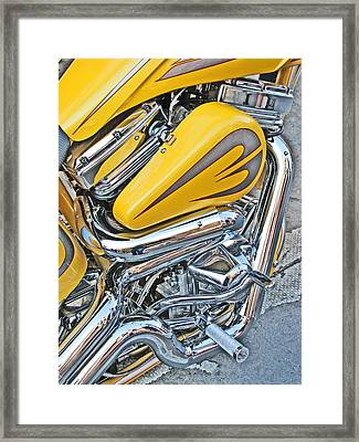 Canary And Chrome Labyrinth Framed Print by Samuel Sheats
