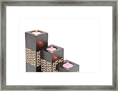 Candle Holders Framed Print by Tom Gowanlock