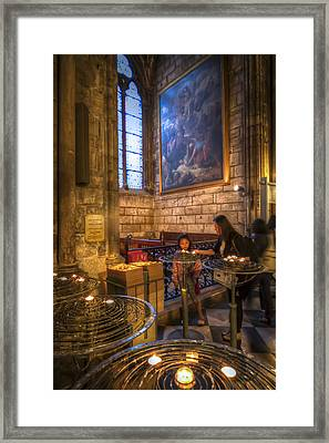 Candles In The Cathedral Framed Print