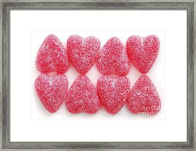 Candy Hearts Framed Print by Elena Elisseeva
