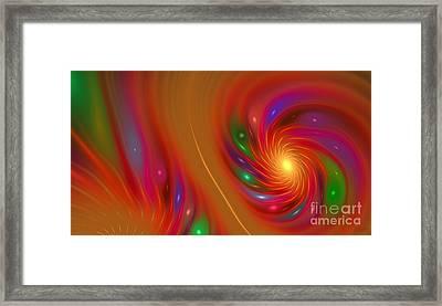 Framed Print featuring the digital art Candy Nebula by Hanza Turgul