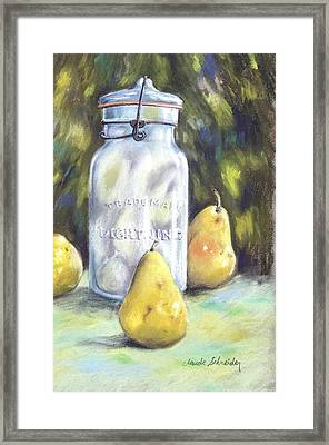Canned Pears  Framed Print by Claude Schneider