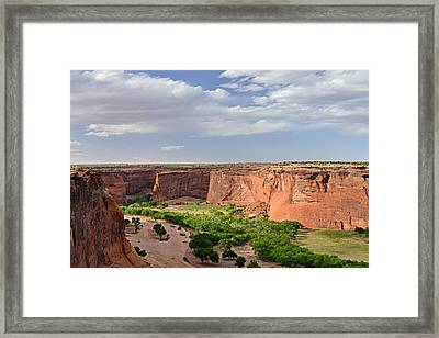 Canyon De Chelly From Sliding House Overlook Framed Print