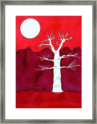 Canyon Tree Original Painting Framed Print by Sol Luckman