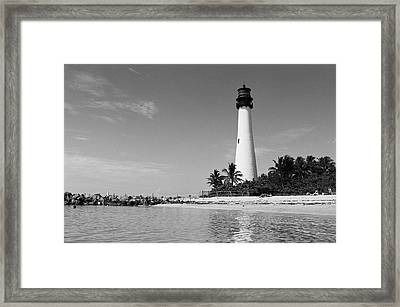 Cape Florida Lighthouse Framed Print by William Wetmore