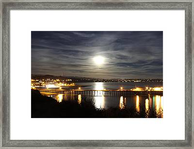 Capitola Moonscape Framed Print by Deana Glenz