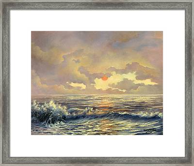 Framed Print featuring the painting Cappuccino Bay by Lynne Wright