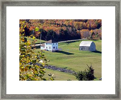 Capstick Village Framed Print by George Cousins