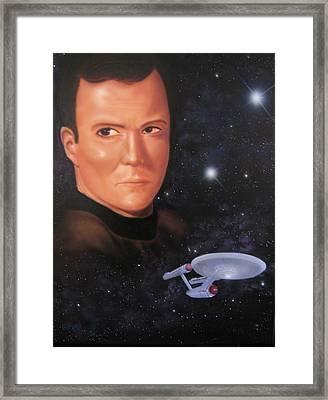 Captain Kirk Framed Print by Ethan  Foxx