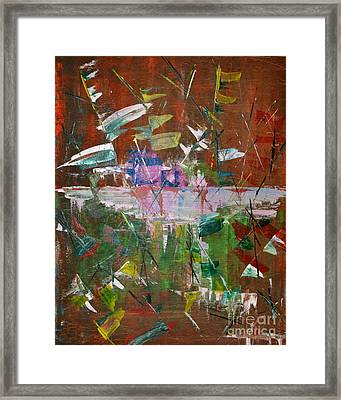 Framed Print featuring the painting Capture The Flag by Denise Tomasura