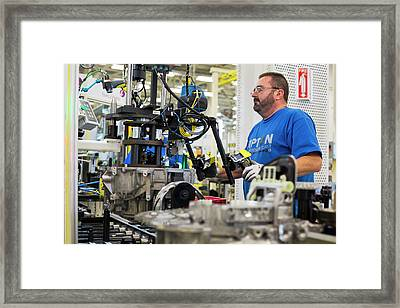 Car Transmission Plant Framed Print by Jim West