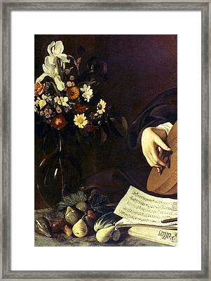 Caravaggio Luteplayer Framed Print
