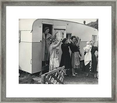 Caravan Site Eviction Force Withdraws Framed Print by Retro Images Archive