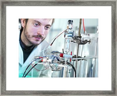 Carbon Capture Research Framed Print
