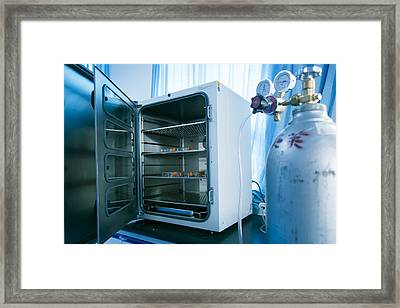Carbon Dioxide Incubator Framed Print by Science Photo Library