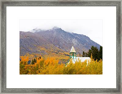 Carcross Church Framed Print