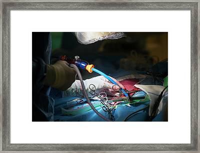 Cardiac Catheterization Framed Print by Arno Massee