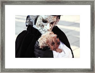 Carnival Dog Framed Print by John Rizzuto