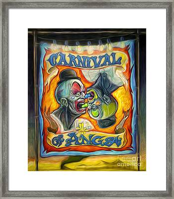 Carnival Of Angst Framed Print by Gregory Dyer