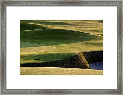 Framed Print featuring the photograph Carnoustie Shadows Scotland by Sally Ross