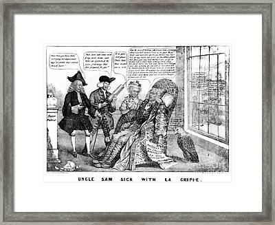 Cartoon: Panic Of 1837 Framed Print