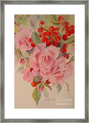 Framed Print featuring the painting Cascade by Beatrice Cloake