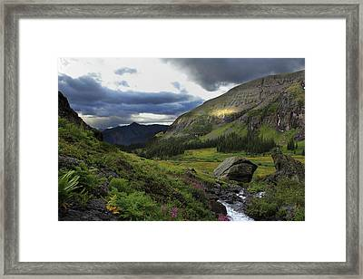 Framed Print featuring the photograph Cascade In Lower Ice Lake Basin by Alan Vance Ley