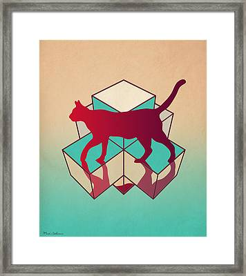 cat Framed Print by Mark Ashkenazi