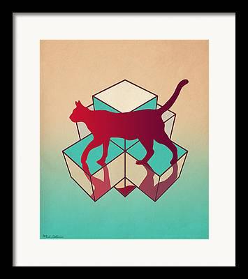 Geometric Animal Framed Prints