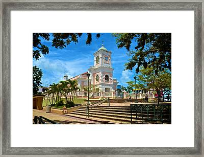 Catedral Santiago Apostol Framed Print by Ricardo J Ruiz de Porras