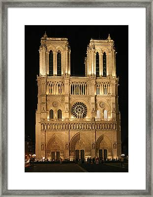 Cathedral Of Notre Dam Framed Print by Gary Lobdell