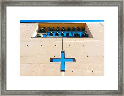 Cathedral Of Our Lady Of The Angels In Los Angeles. Framed Print by Jamie Pham