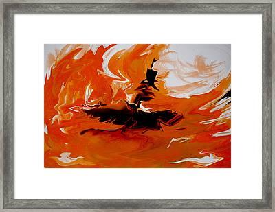 Caught In The Storm Framed Print by Indira Mukherji