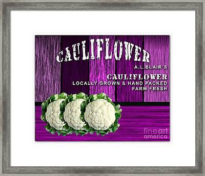 Cauliflower Farm Framed Print by Marvin Blaine