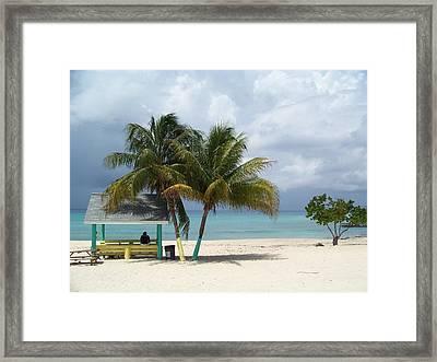 Cayman Beach Framed Print by Robert Teeling